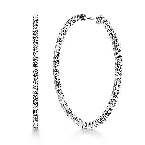 Gabriel - 14K White Gold 50MM Fashion Earrings
