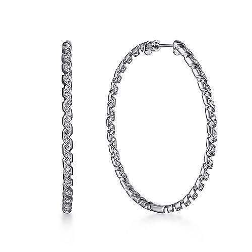 Gabriel - 14K White Gold 50MM Fashion Earrings