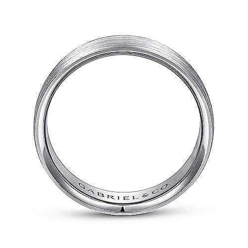 14K White Gold 6mm - Satin Finish Men's Wedding Band