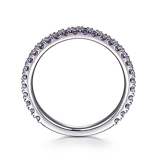 14K White Gold Amethyst Ladies' Ring