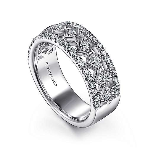 14K White Gold Anniversary Band