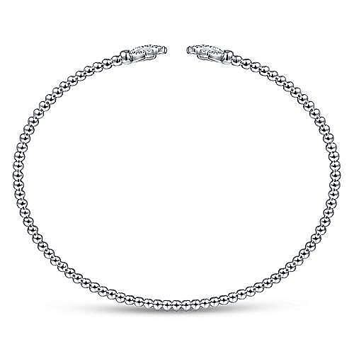 14K White Gold Bracelet with Diamond Branches