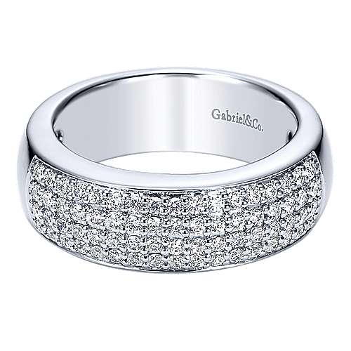 Gabriel - 14K White Gold Diamond Anniversary Band