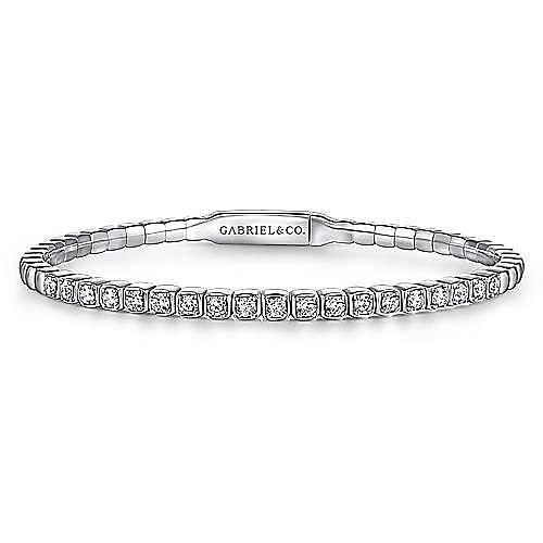 Gabriel - 14K White Gold Diamond Bangle
