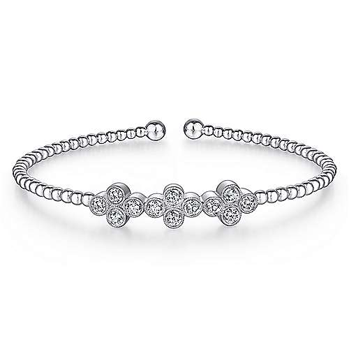 Gabriel - 14K White Gold Diamond Bangle