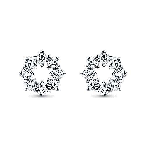 Gabriel - 14K White Gold Diamond Earring