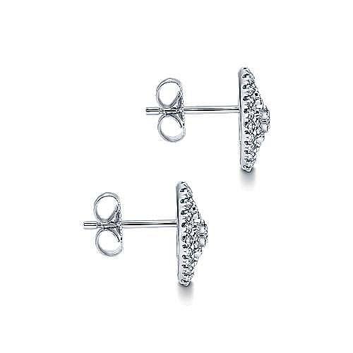 14K White Gold Diamond Earring