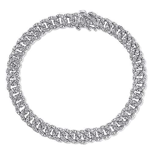 14K White Gold Diamond Link Tennis Bracelet