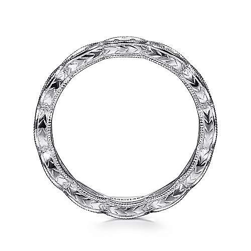 14K White Gold Diamond Marquise Station Eternity Ring