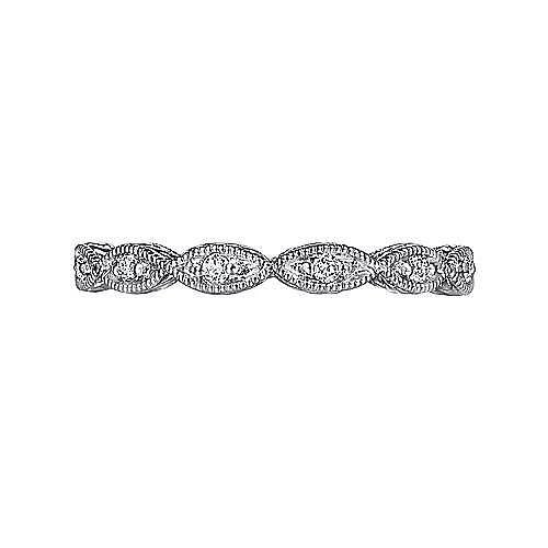 14K White Gold Diamond Marquise Station Ring