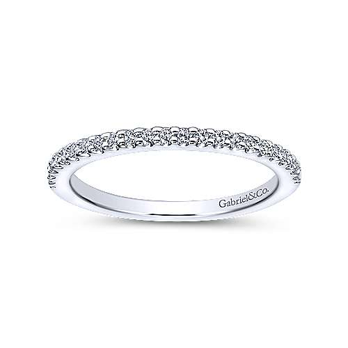 14K White Gold Diamond Matching Wedding Band
