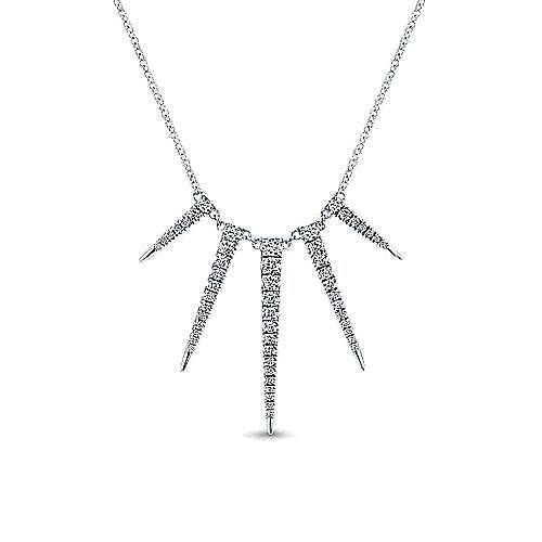 Gabriel - 14K White Gold Diamond Necklace