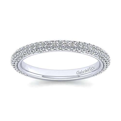 14K White Gold Diamond Pavé Anniversary Band