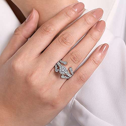 14K White Gold Diamond Ring Enhancer