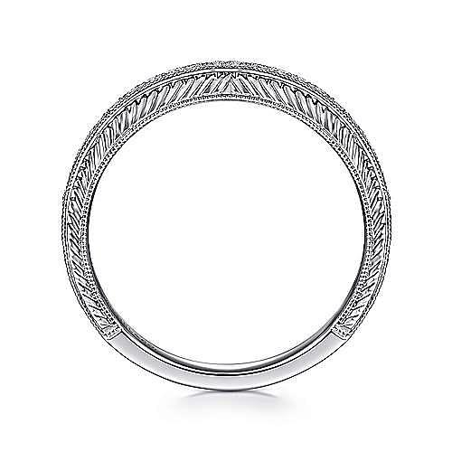 14K White Gold Diamond Stackable Ring