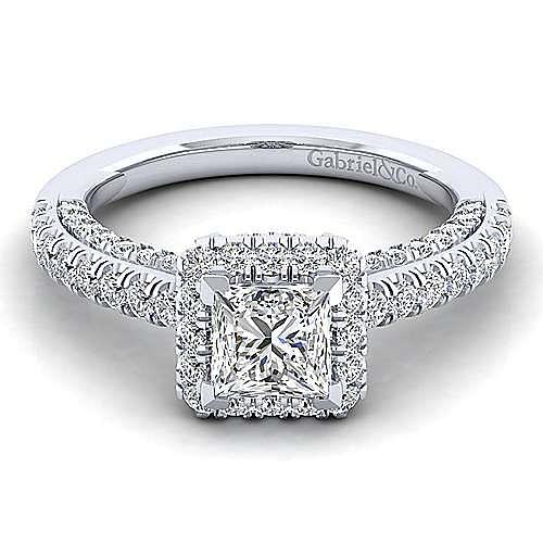 Gabriel - 14K White Gold Engagement Ring