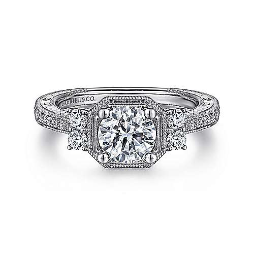 Gabriel - 14K White Gold Engagement Ring