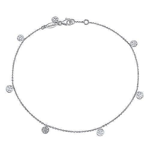14K White Gold Fashion Ankle Bracelets