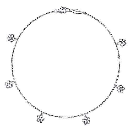 14K White Gold Fashion Anklet Bracelet