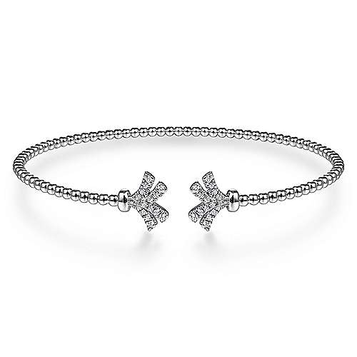 Gabriel - 14K White Gold Fashion Bangle