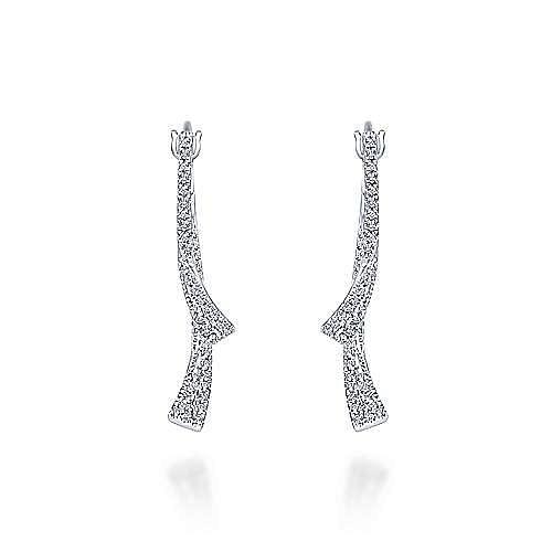 Gabriel - 14K White Gold Fashion Earrings