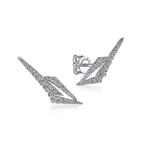 14K White Gold Fashion Earrings