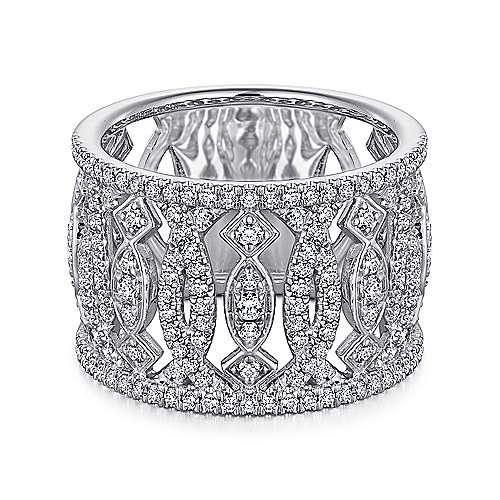 Gabriel - 14K White Gold Fashion Ladies' Ring