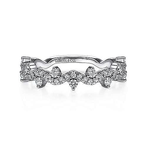Gabriel - 14K White Gold Fashion Ladies' Ring