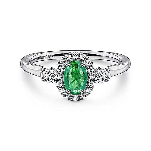 14K White Gold Fashion Ladies'Ring