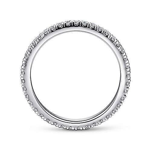 14K White Gold French Pavé Set Diamond Eternity Band