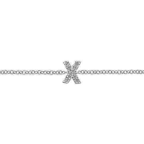 14K White Gold Initial Bracelet