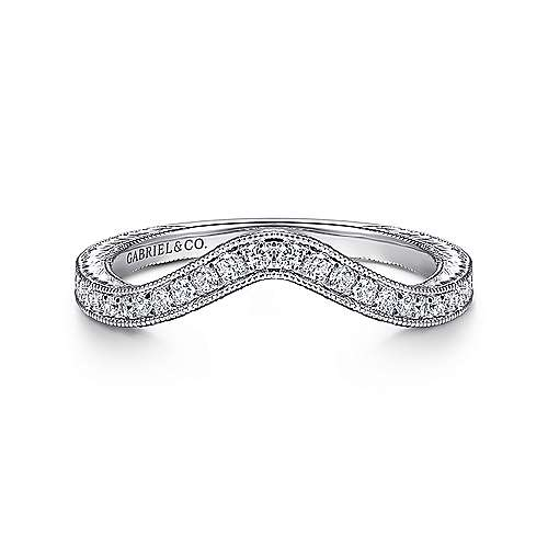 Gabriel - 14K White Gold Matching Wedding Band