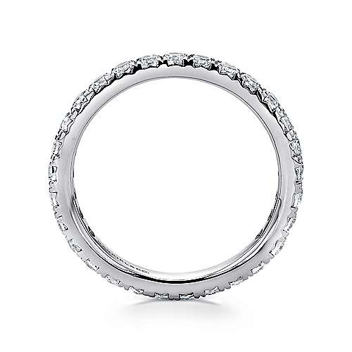 14K White Gold Micro Pavé Diamond Eternity Band