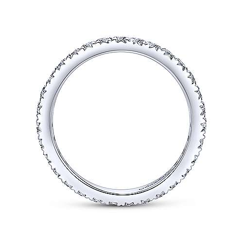 14K White Gold Micro Pavé Diamond Eternity Band