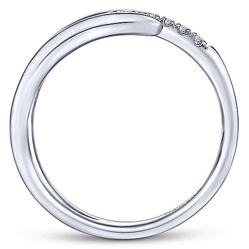 14K White Gold Open Claw Diamond Ring