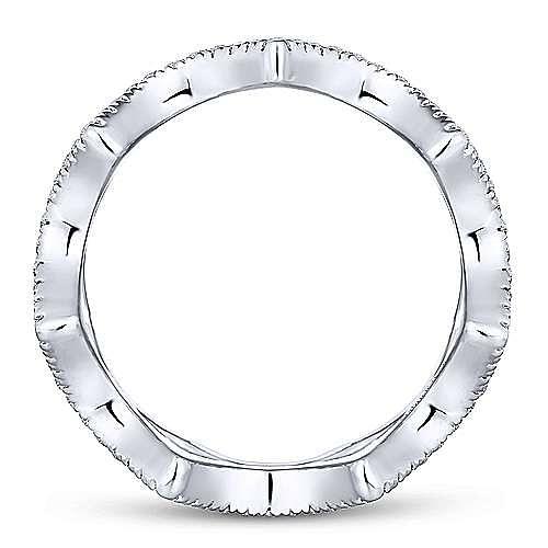 14K White Gold Open Triangular Diamond Eternity Ring