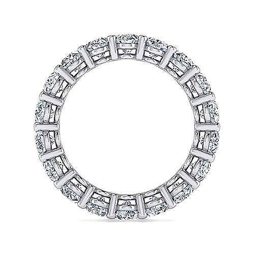 14K White Gold Oval Diamond Eternity Band