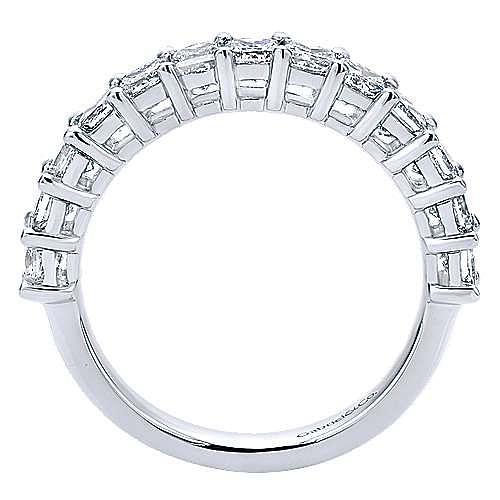 14K White Gold Princess Cut 13 Stone Prong Set Diamond Anniversary Band
