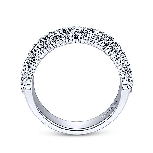 14K White Gold Prong Set Diamond Anniversary Band