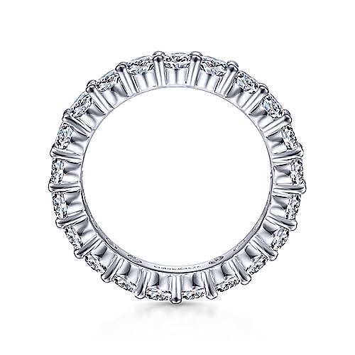 14K White Gold Prong Set Diamond Eternity Band