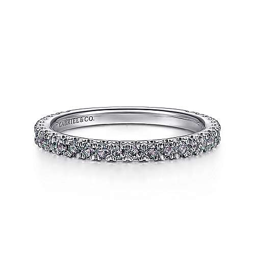 Gabriel - 14K White Gold S.Alexandrite Fashion Ring
