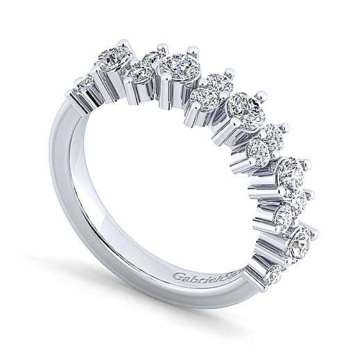 14K White Gold Shared Prong Diamond Anniversary Band
