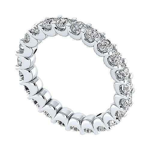 14K White Gold Shared Prong Diamond Eternity Band