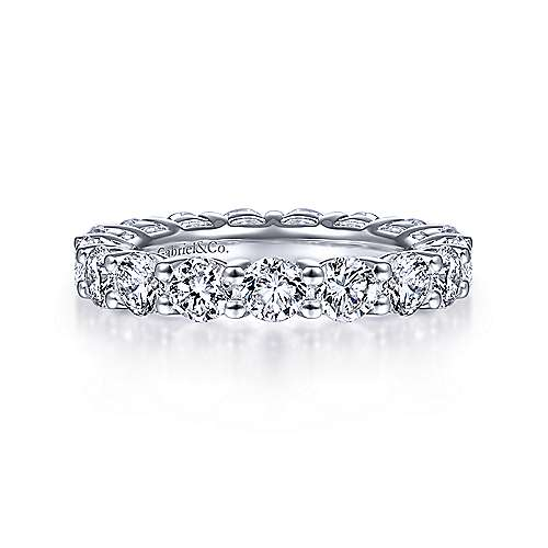 14K White Gold Shared Prong Diamond Eternity Band