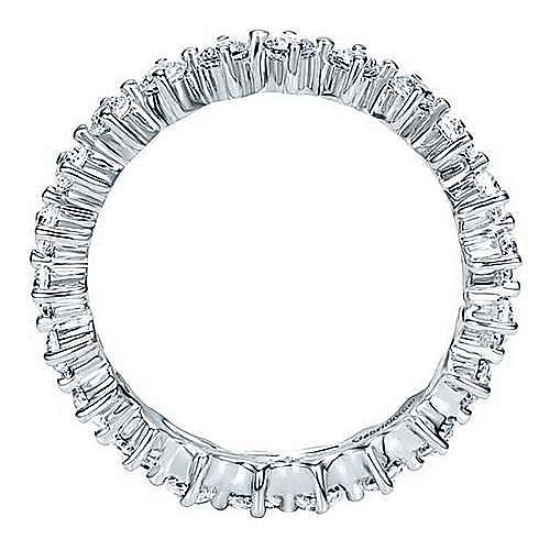 14K White Gold Single Prong Diamond Eternity Band