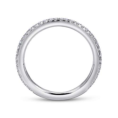 14K White Gold Stackable Diamond Ring