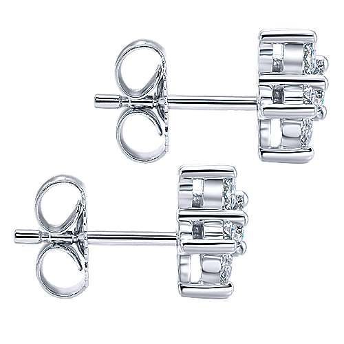 14K White Gold and Diamond Fashion Earrings