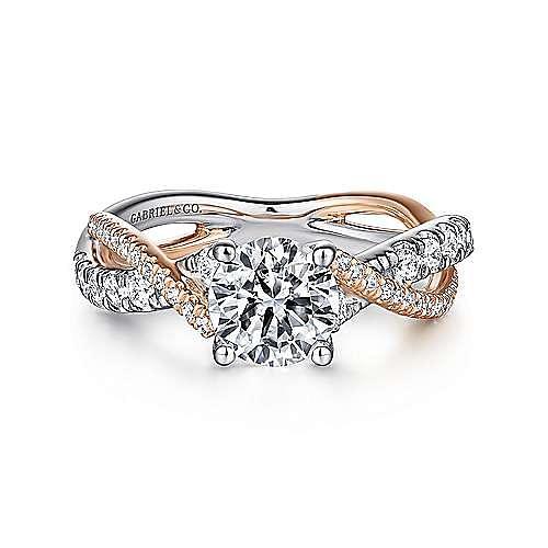 Gabriel - 14K White-Pink Gold Engagement Ring