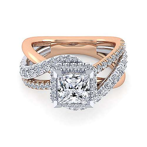 Gabriel - 14K White-Pink Gold Engagement Ring
