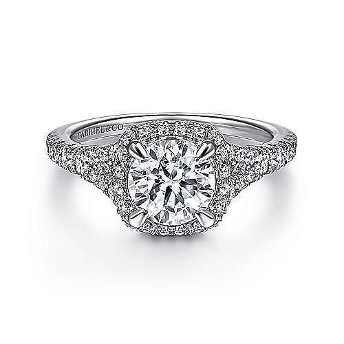 Gabriel - 14K White/Rose Gold Diamond Engagement Ring